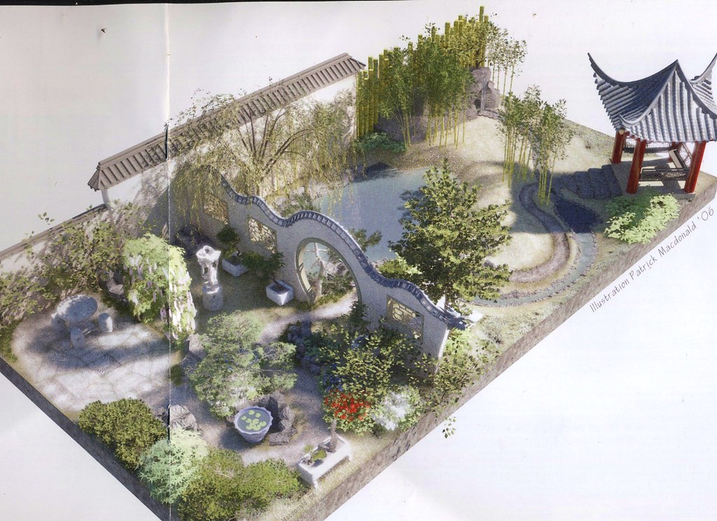Plan for the Chinese Moongate Garden - Chelsea 2007 Flickr - chinese garden design