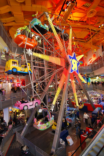 Time Square Toys R Us Four Stories Tall Inside Toys R