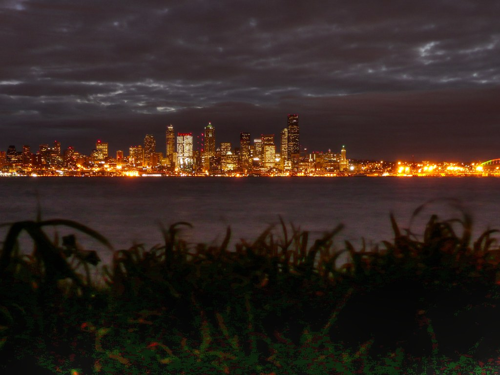 New 3d Wallpaper 2018 Puget Sound Just Before Dawn Seattle Washington At