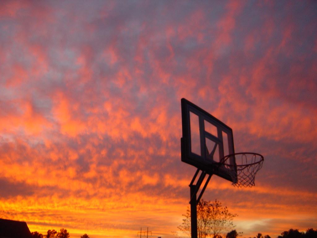 3d Basketball Wallpaper Basketball Sunset I Really Liked The Angle Through The