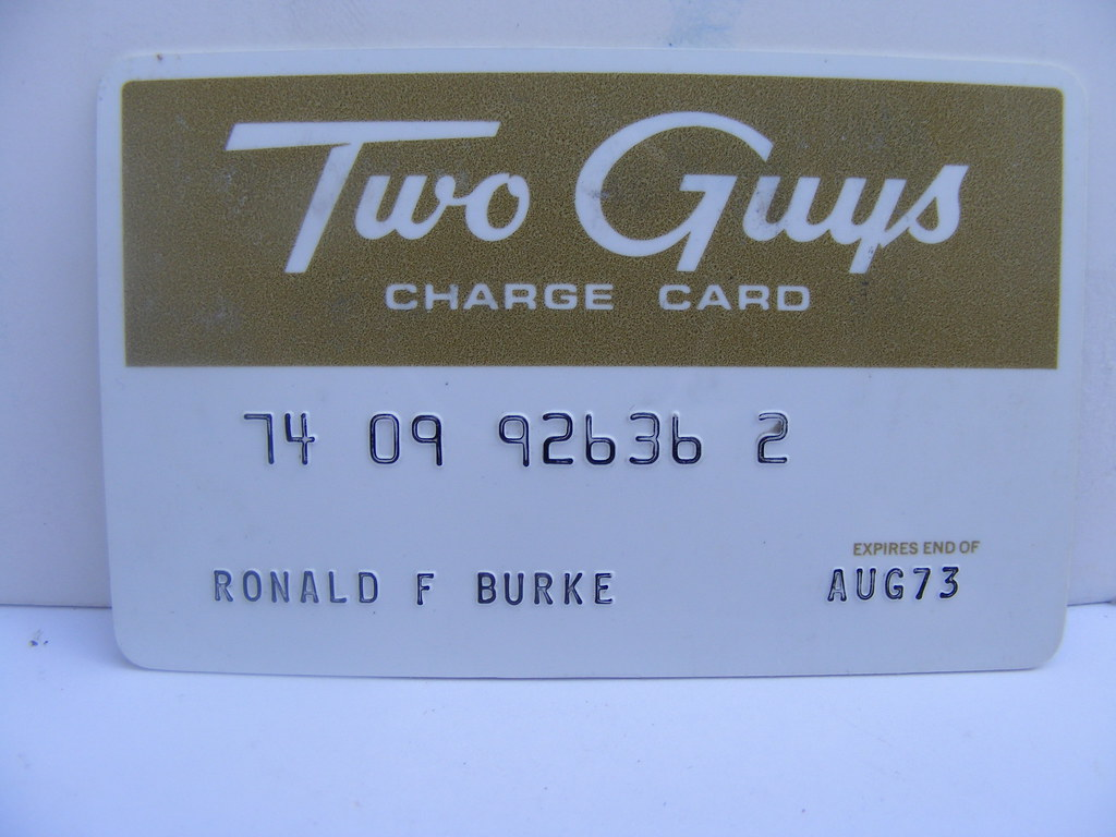 Stores Credit Card Two Guys Credit Card Old Two Guys Deaprtment Store