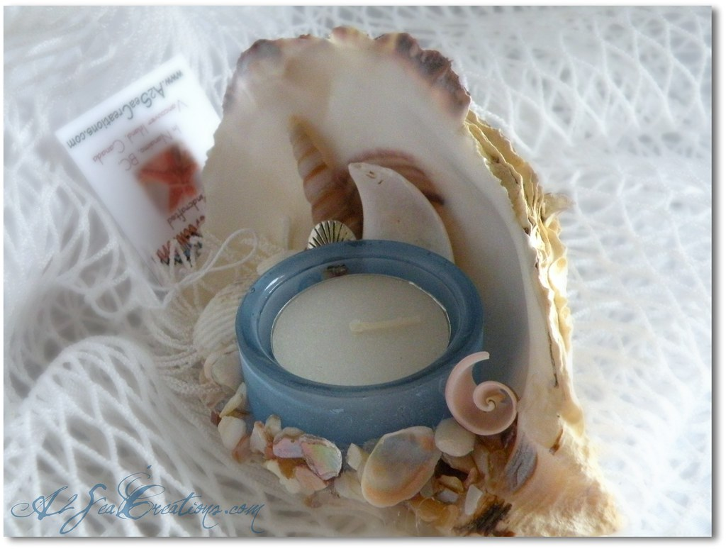 New Oyster Shell Tealight Candle Holder Drop By Our