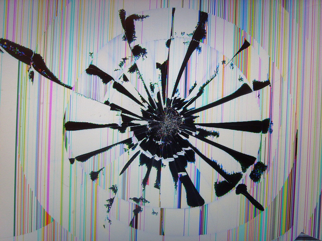 Wallpaper For Living Room 3d Smashed Macbook Pro Screen Yeah Ouch A Friend Of Mine