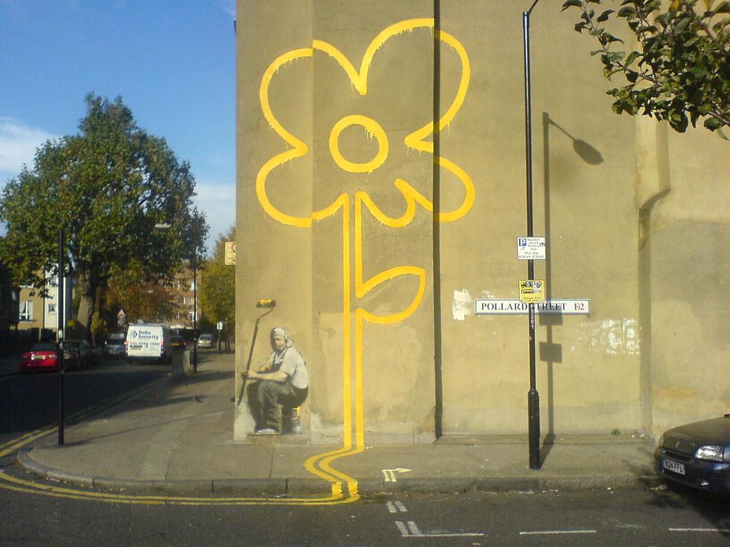 Graffiti Wallpaper 3d Hd The Banksy Flower David Singleton Flickr