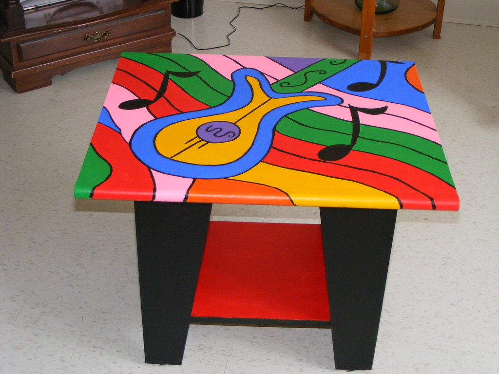 Pop Art Music Table My Latest Piece Of Painted Furniture