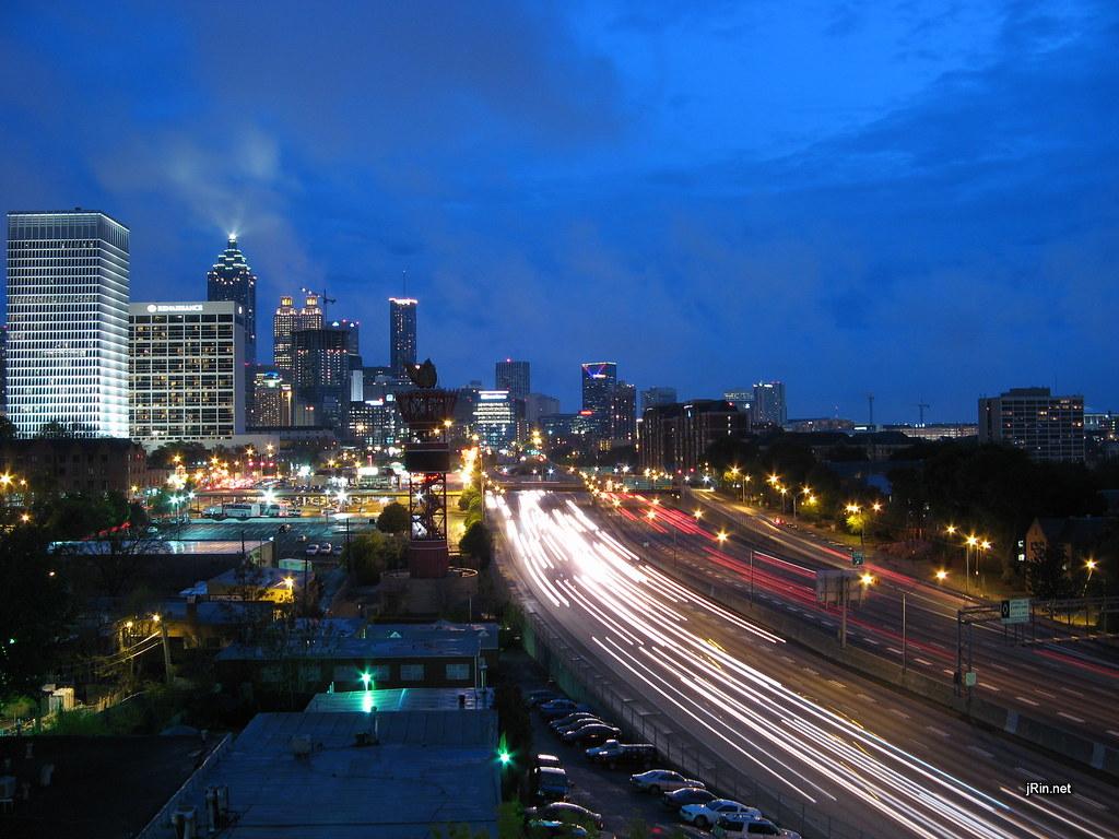 3d Wallpaper Widescreen Atlanta Night Skyline Wallpaper The Atlanta Skyline At