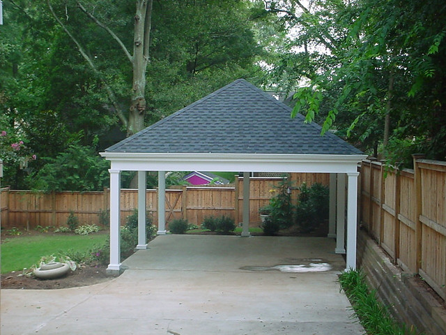 Dachkonstruktion Carport Carport | Simple Carport With Hip Roof | Homerebuilders