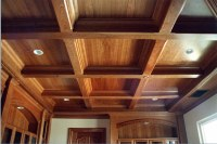Cherry Coffered Ceiling Trim | Natural Cherry woodwork ...