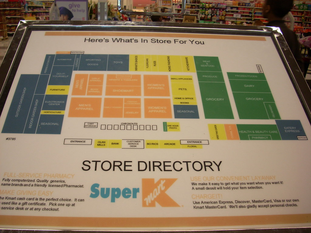 Kmart World Map Super Kmart Center Directory 1997 Super Kmart Center