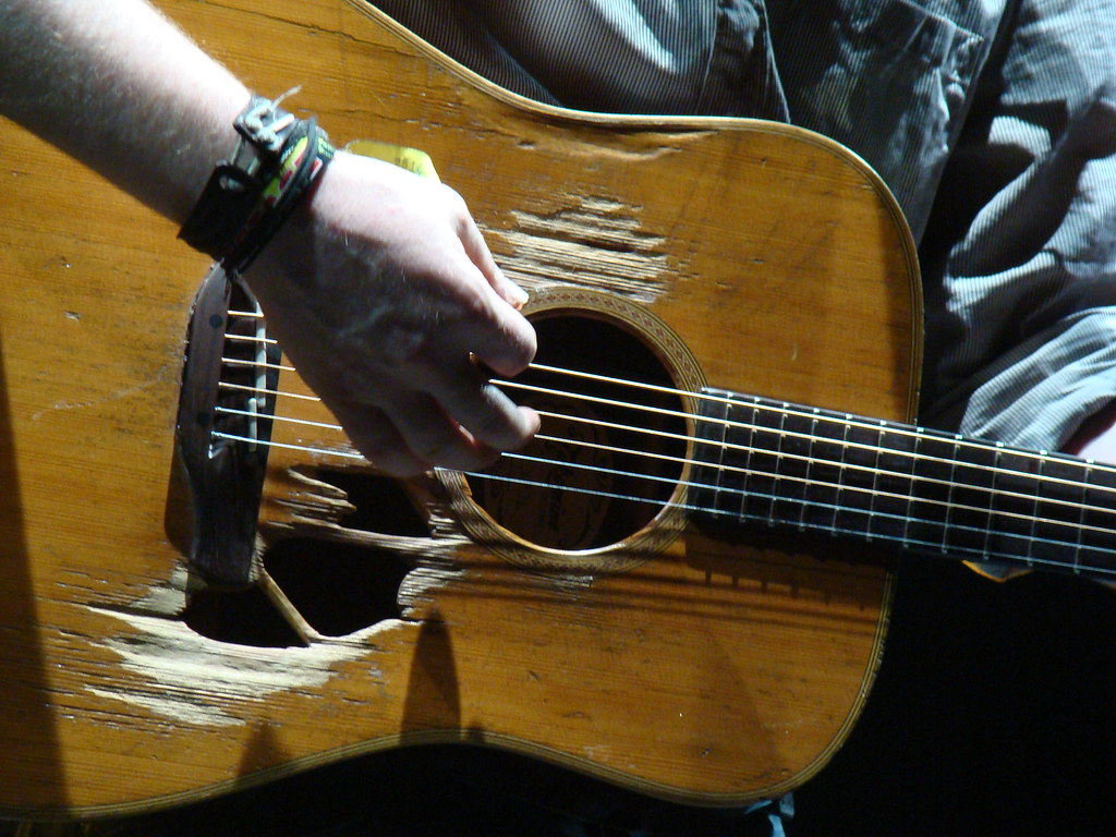 Np Name 3d Wallpaper Glen Hansard S Guitar Love How Worn It Is