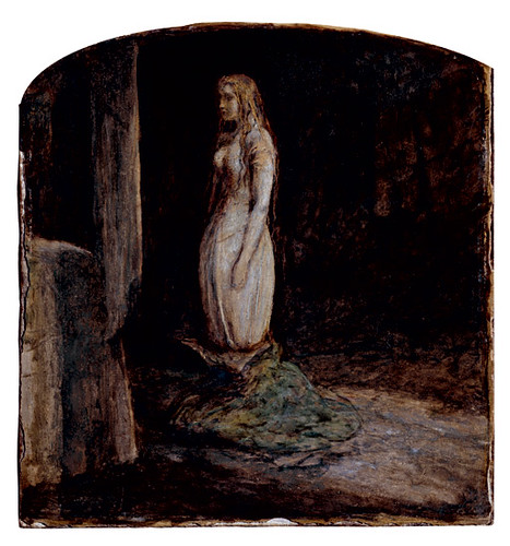 "Bed And Couch Millais' ""eve Of St Agnes"" An Early Version C 1850 