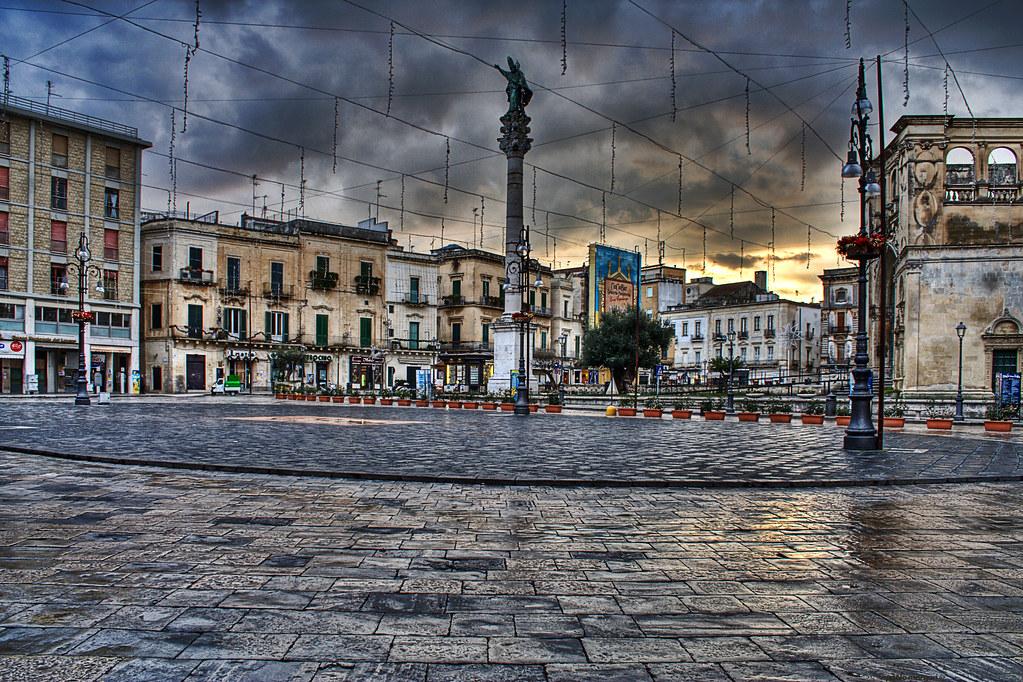 My Photo 3d Wallpaper Piazza Sant Oronzo In Lecce Salento Italy Lecce