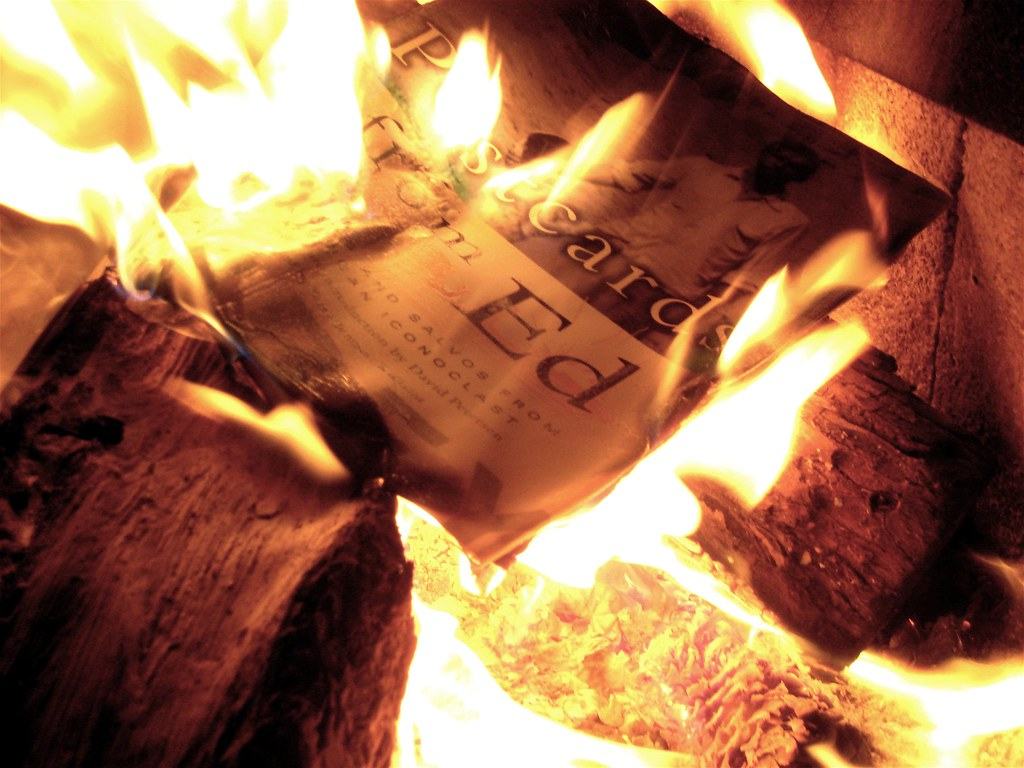 Literary Wallpaper Quote Burn Ed Burn No I Am Not Book Burning Postcards From Ed