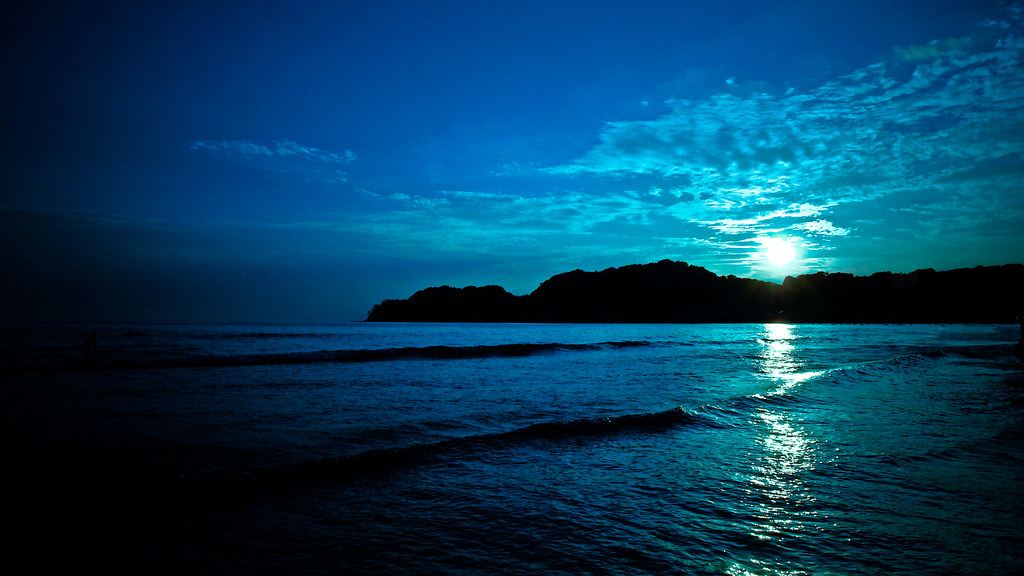 Black And Green Wallpaper Deep Blue Sunset On Black Localize Recent