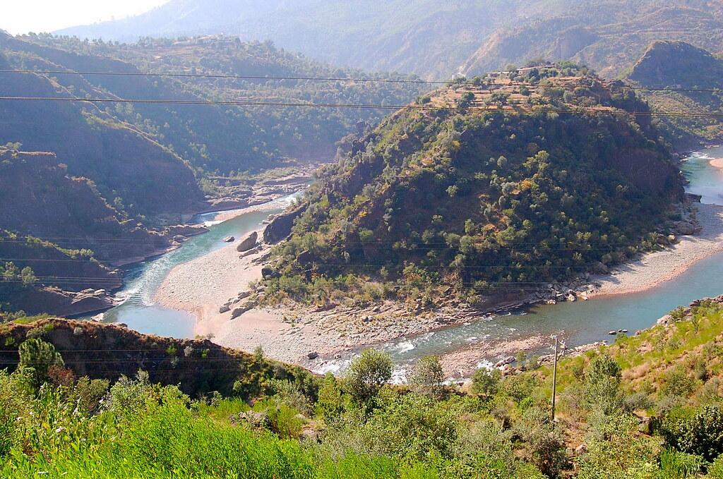 3d Wallpaper In Pakistan River Poonch Ajk Pakistan View From The Top Azlan