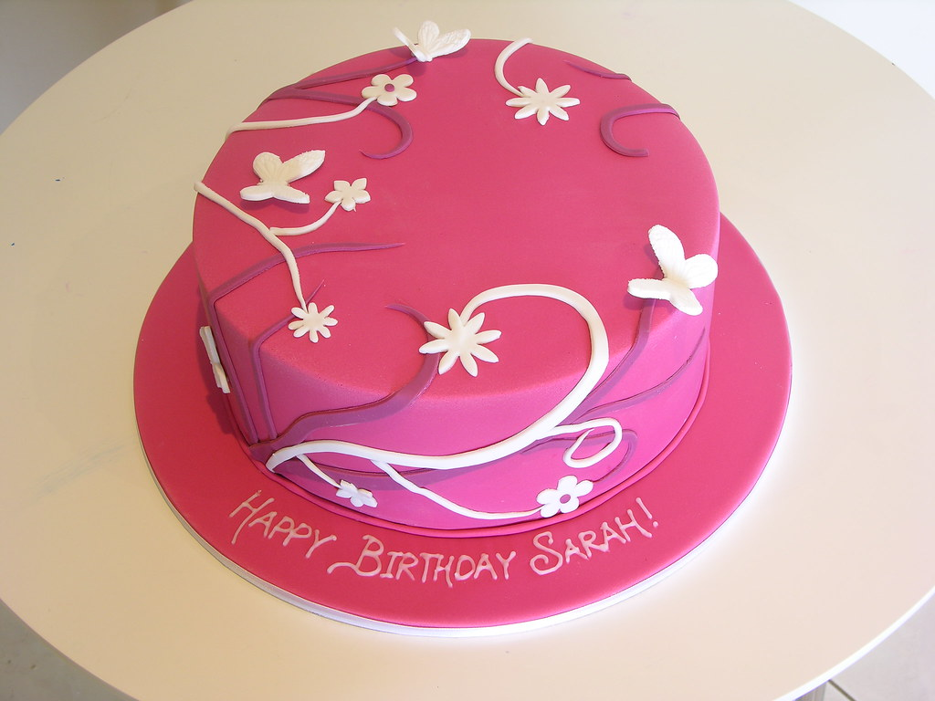 Pretty Pink Birthday Cake This Was Inspired By A Pink