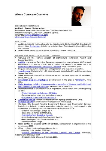 How To Create A Resume To Upload Create An Account Upload Resume Start Applying Jobs Alvaro Carnicero Carmona Cv Profesional Enp225;gina1 Flickr