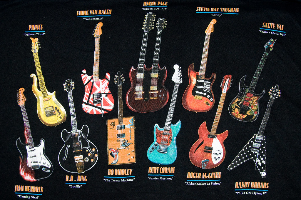 3d Yamaha Wallpaper Famous Guitars An Old T Shirt I Have Artbrom Flickr