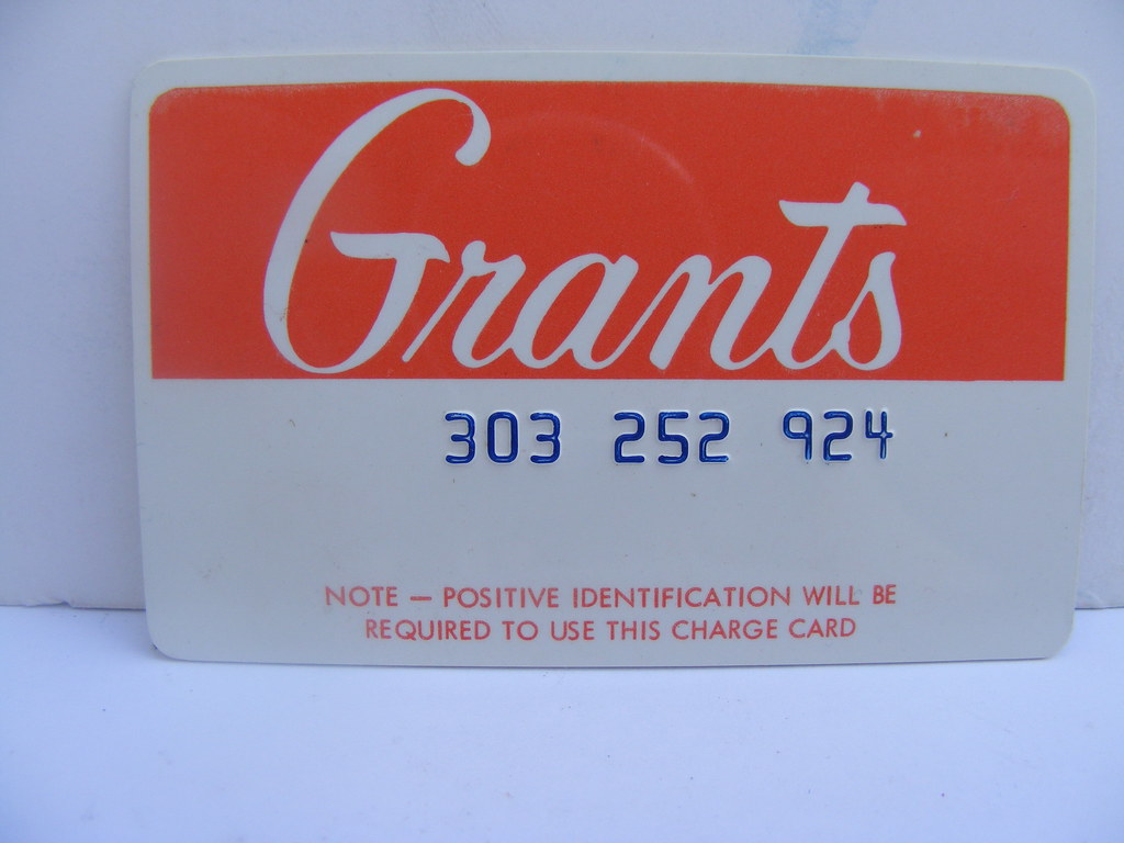 Stores Credit Card Grant 39s Credit Card Old Grant 39s Department Store Credit