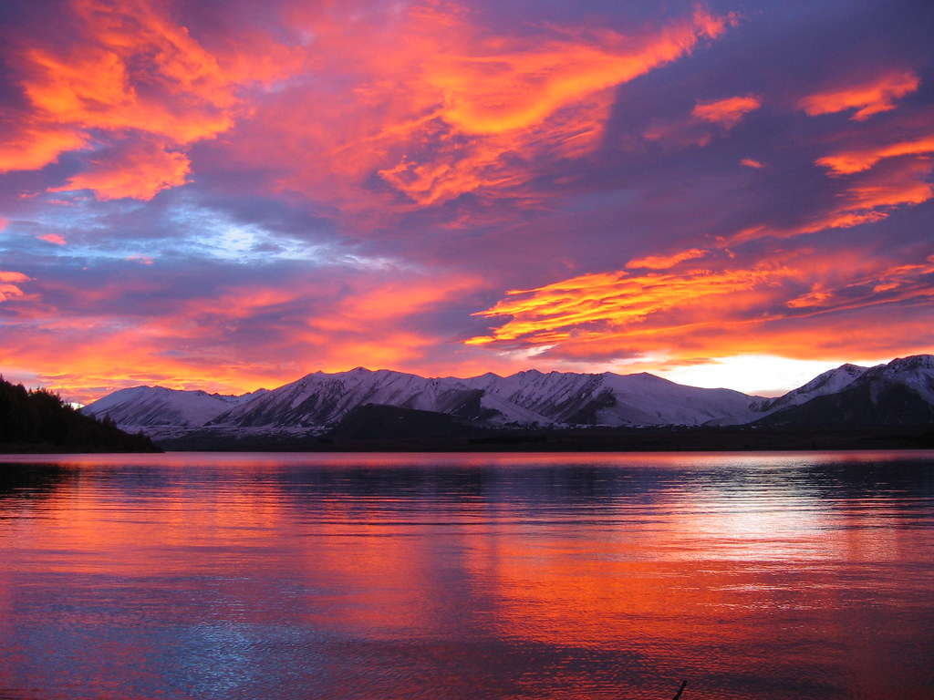 Best 3d Hd Widescreen Wallpapers Lake Tekapo Sunrise Probably The Best Certainly The
