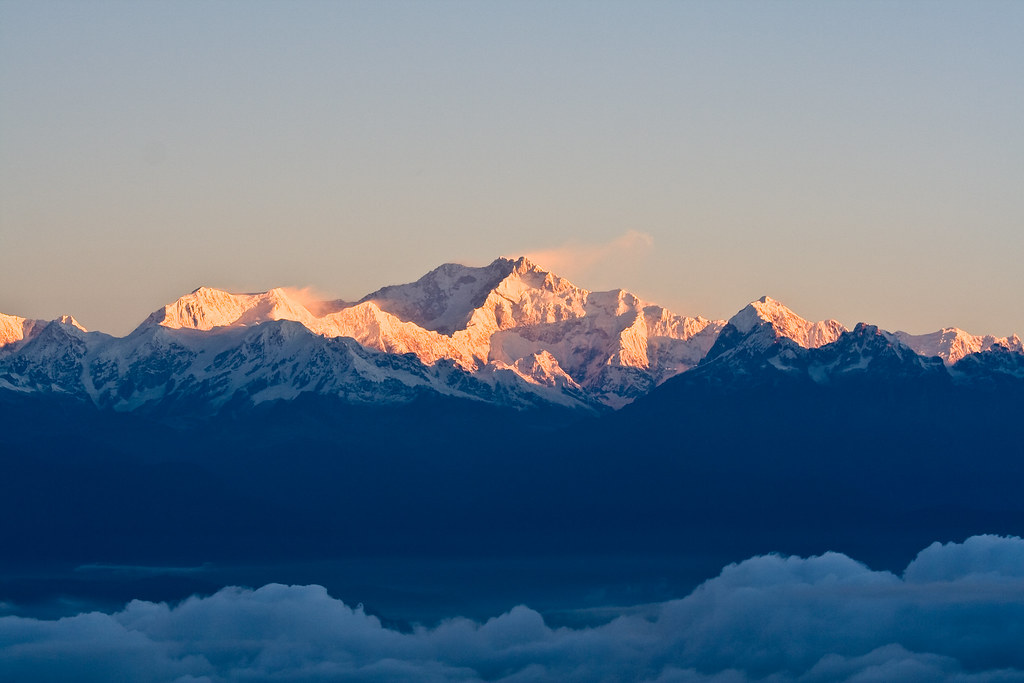 India Wallpaper 3d Kangchenjunga Indian Himalaya Morning On The Roof Of