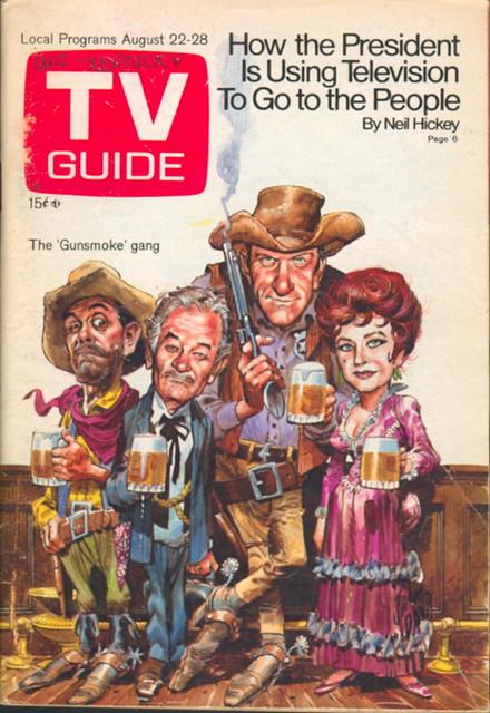 Free Fall Wallpaper Tv Guide 908 August 22 1970 Ken Curtis Milburn Stone