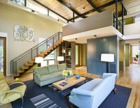 11 Modern RainShine House Design - Staircase Living Room ...
