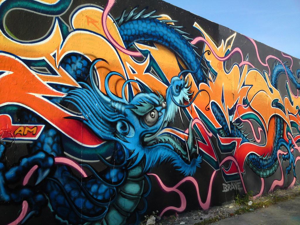3d Street Art Graffiti Wallpaper Dragons Devils N Demons Cloud My Graffiti Drenched Mind