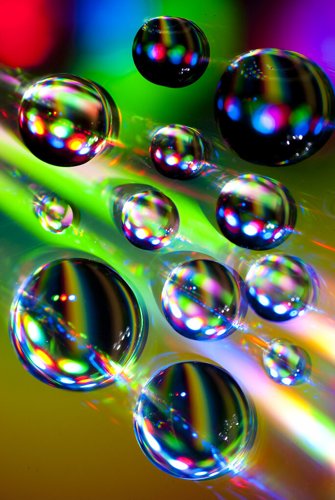 Trippy Wallpaper Hd Rainbow Color Explosion In Water Drops Macro Of Water