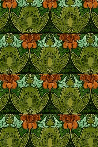 Art Nouveau Tile iPhone Wallpaper | Recreation of vintage Ar… | Flickr