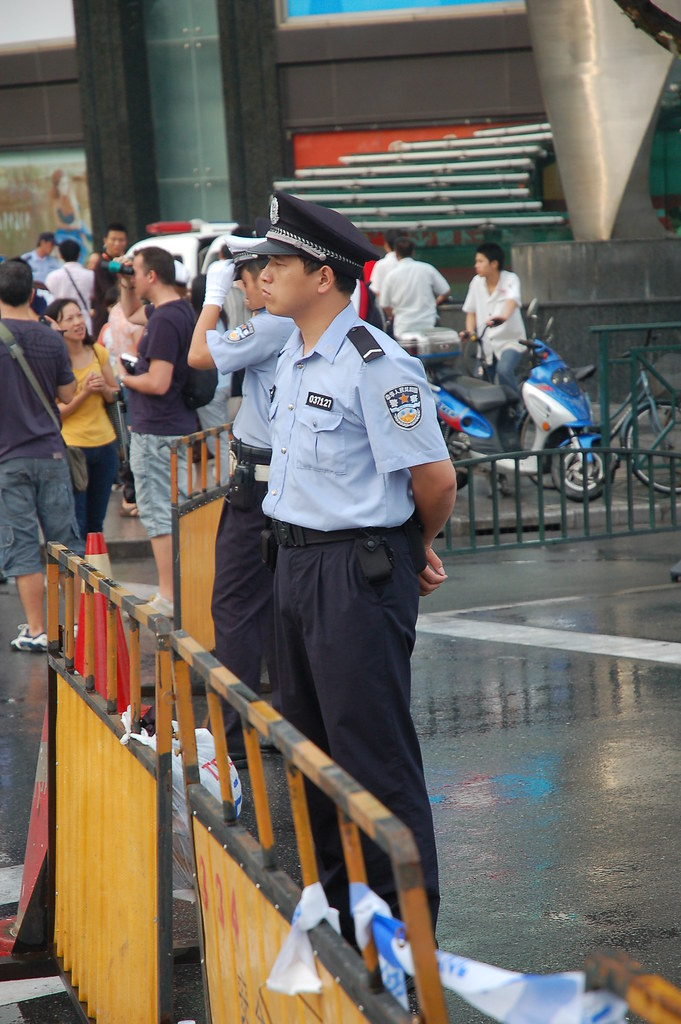 English To Chinese Chinese Police Bulge | 小警察还挺猛 | Beijing Patrol | Flickr