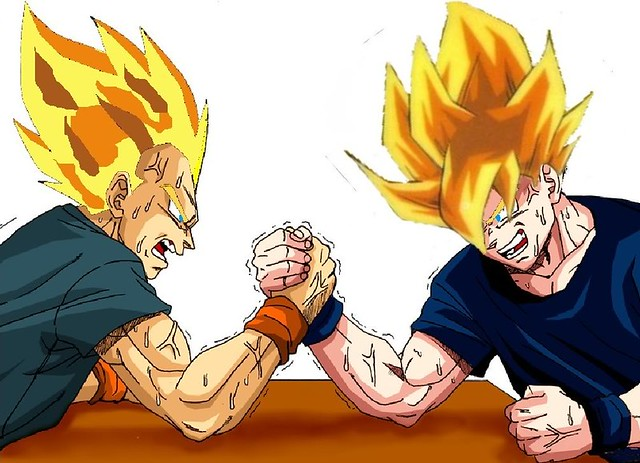 Dbz 3d Wallpapers Vegeta Vs Goku Mobu27 Flickr