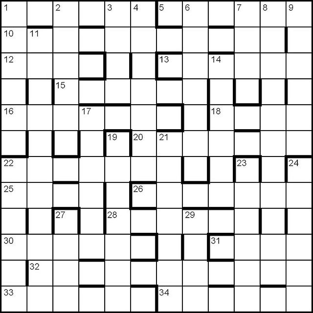 blank crossword puzzle grids printable - Romeolandinez