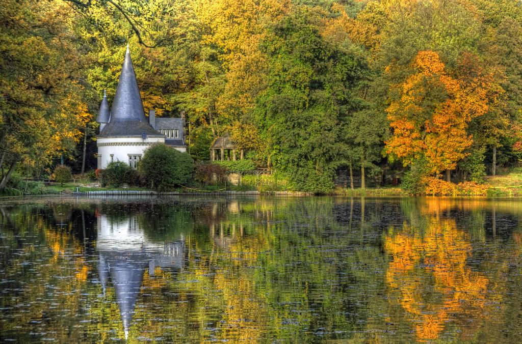 Fall Cabin The Woods Wallpaper Fall Herfst Autumn Herbst Raky Weiher In