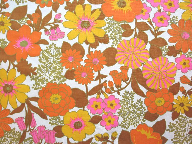 Lilly Pulitzer Fall Wallpaper Vintage Flower Power Fabric A Fun 60 70 S Flower Power