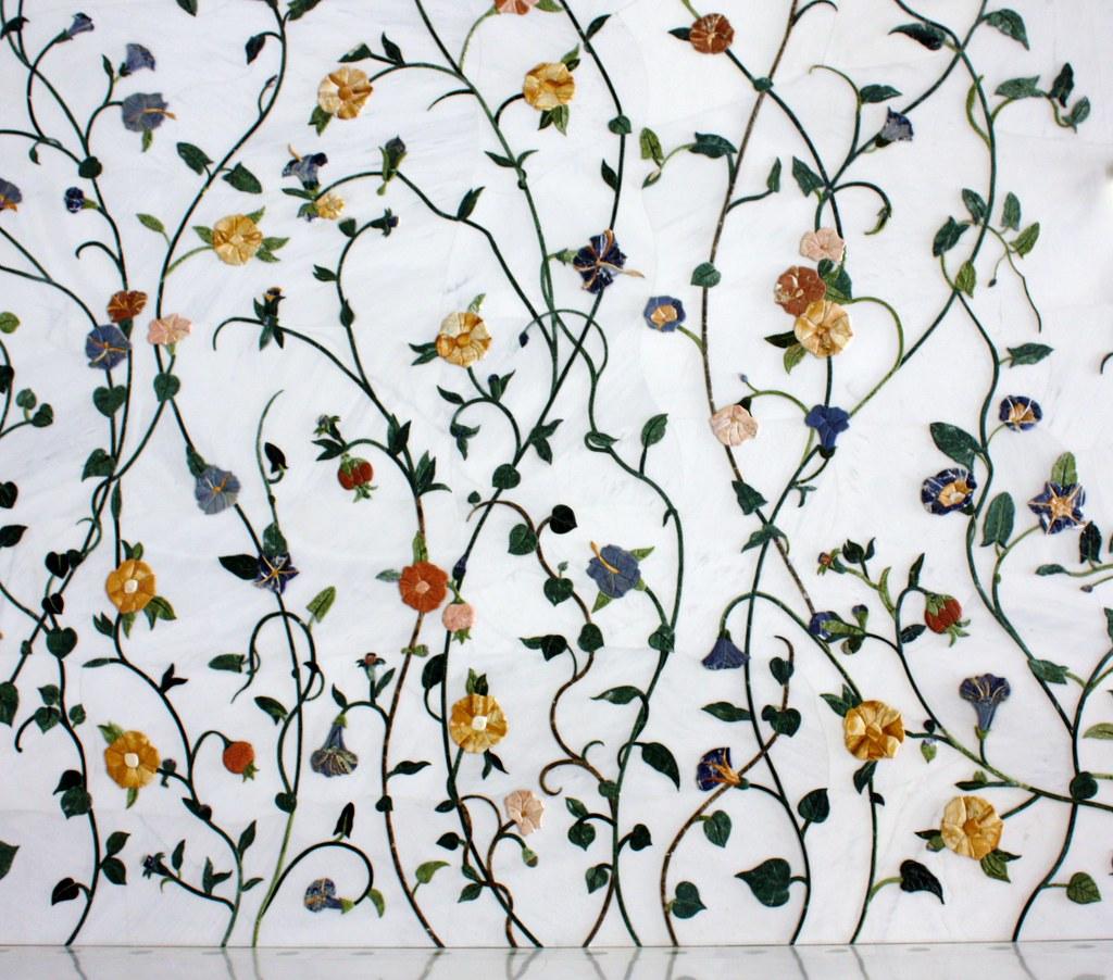 3d White Flower Wallpaper Interior Wall Grand Mosque Abu Dhabi Uae These Walls