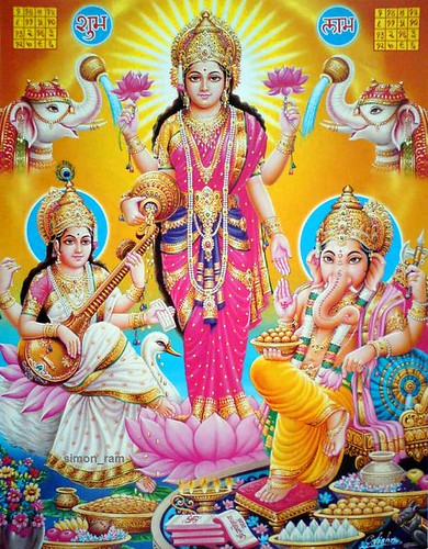 3d Wallpaper Jai Mata Di Lakshmi Maa Saraswati Maa And Ganesha Check Out My