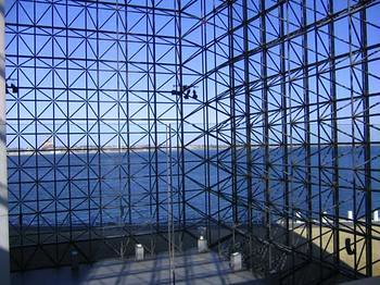 3d Pyramid Wallpaper Jfk 3 Glass Curtain Wall Supported By Triodetic Space