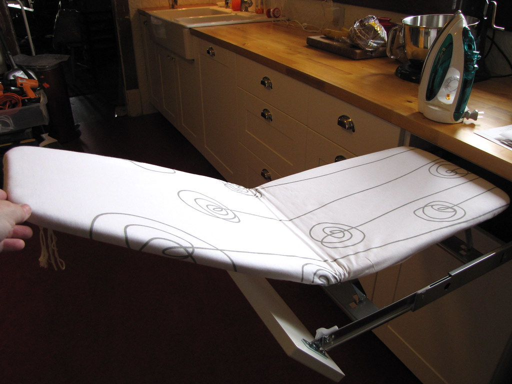 Ikea Ironing Board Built-in Ironing Board In Kitchen | Bungalow Kitchens