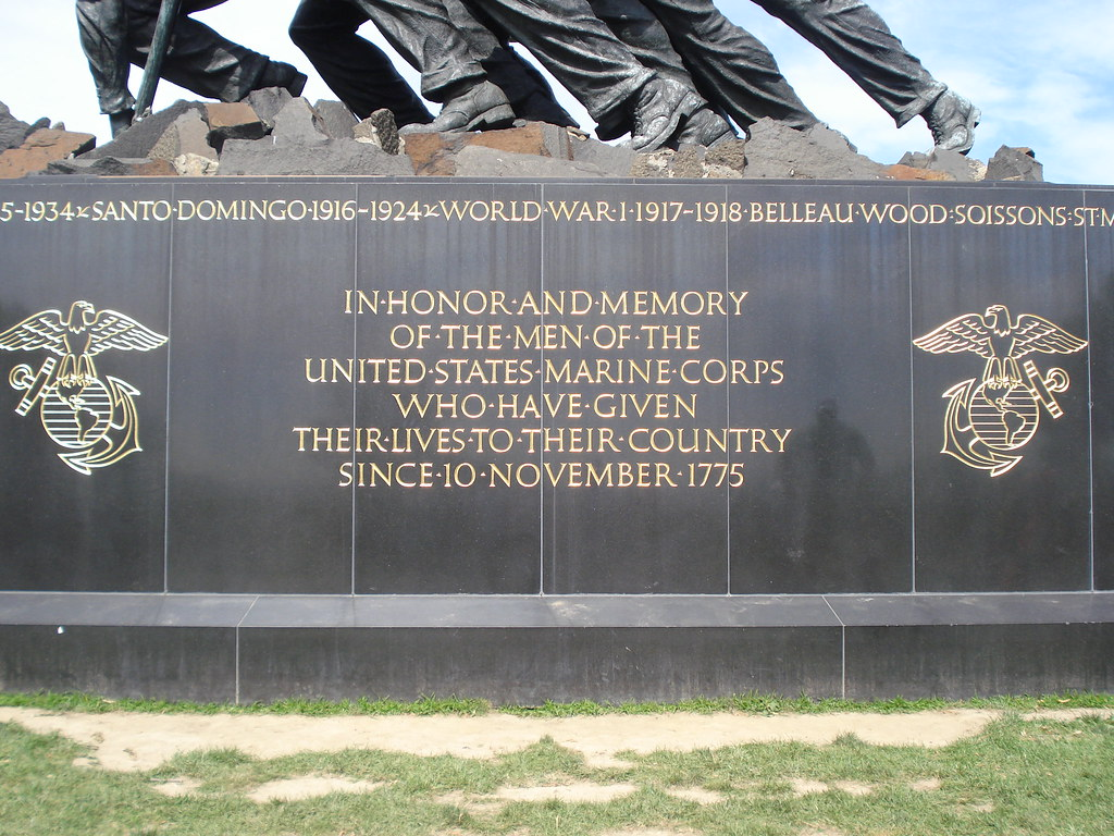 3d Picture Wallpaper Washington Dc Iwo Jima Memorial Inscription An