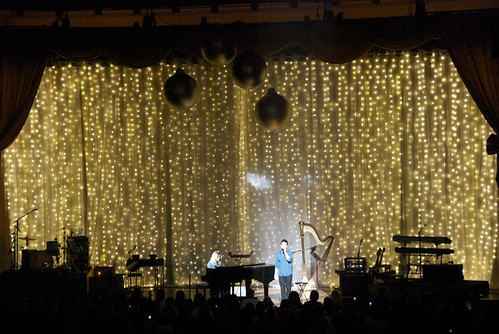 Snow Falling Video Wallpaper Led Christmas Stage Drape For David Archuleta A Butch