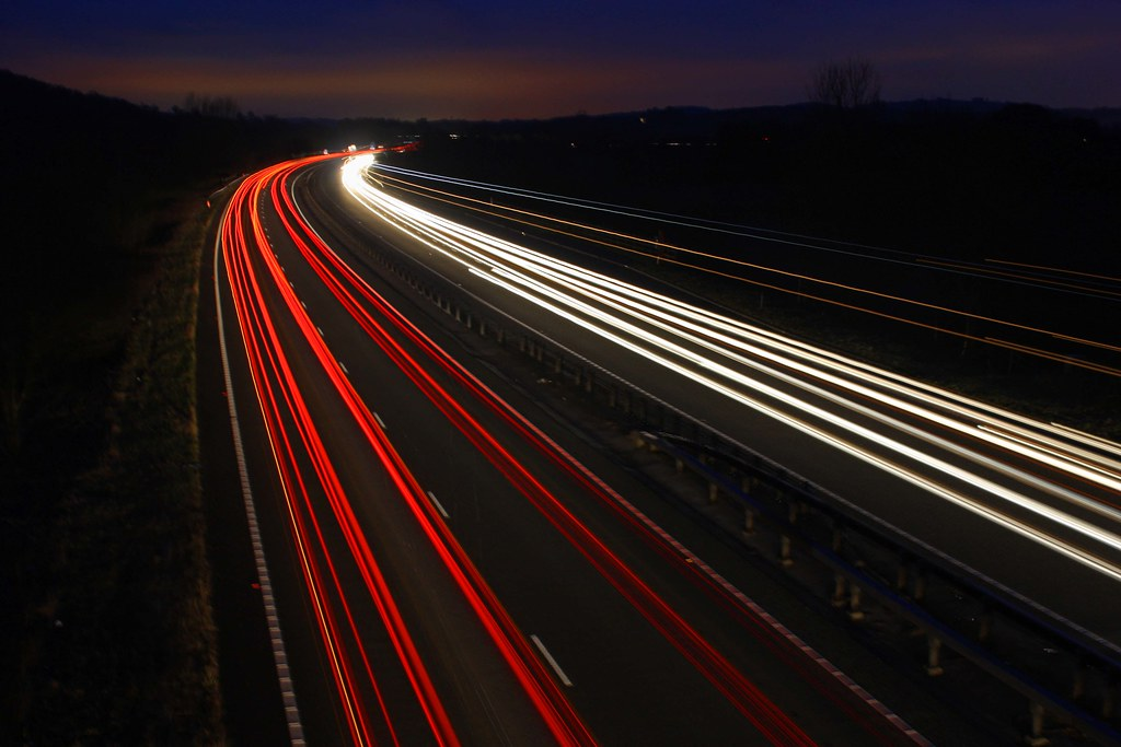 Car Streaks Wallpaper Traffic Light Trails Long Exposure Another