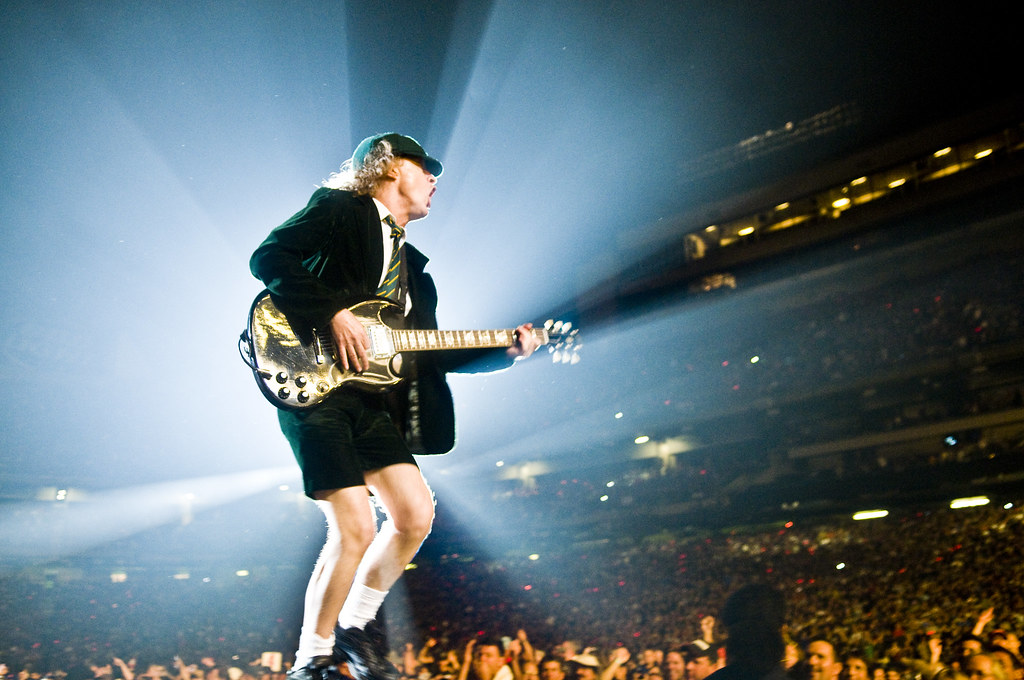 Ac Dc Wallpaper 3d Angus Young Of Ac Dc Giants Stadium Angus Young Of Ac