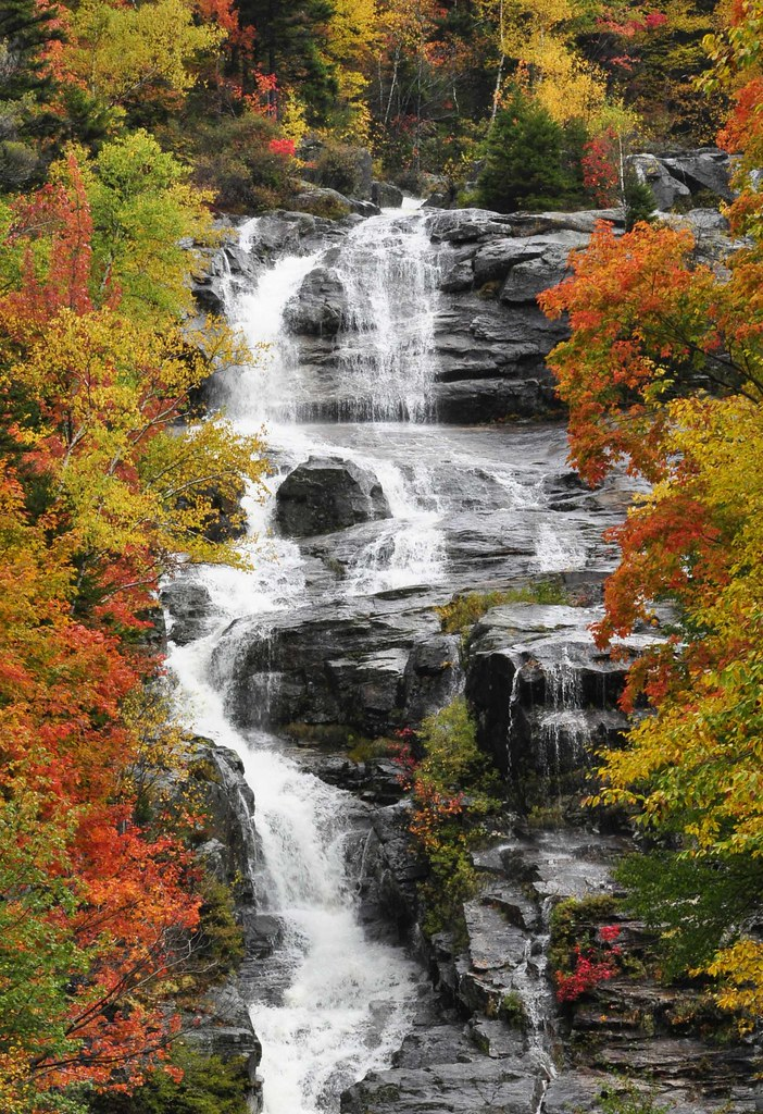 Fall Foliage Desktop Wallpaper Foliage And Waterfall Crawford Notch Nh 2009 New