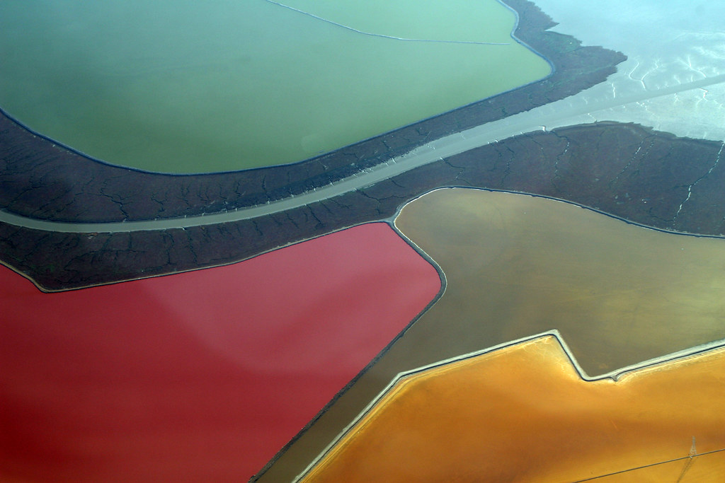 3d Wallpaper Yellow 2009 10 31 Bos Sfo 398 Salt Evaporation Ponds Formed By