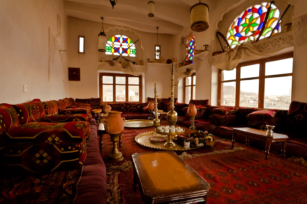 3d House Wallpaper Room Dining Room Inside An Antique Palace Old Sana A Yemen صنعا