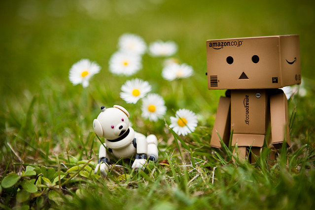 Cute Black Wallpaper Danbo Walking The Dog Danbo Taking Latte Aibo For A Walk