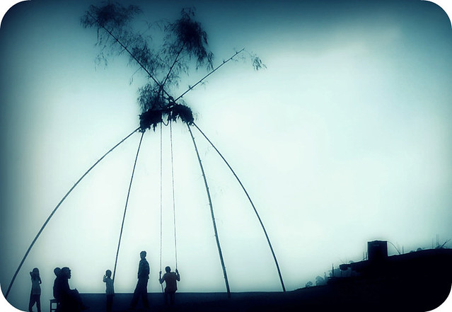 New Year Wallpapers 3d A Swing For Dashain Nepalese People Indulging The