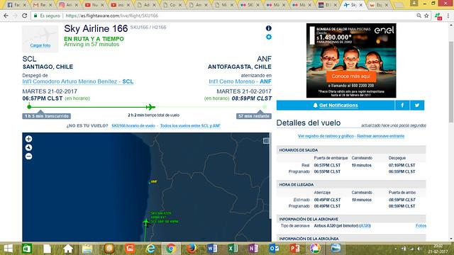 SKY166 - Flightaware