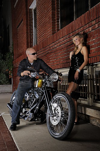 Pitbull Wallpapers 3d Brass Ball Bobber Motorcycle In Urban Setting With Biker A